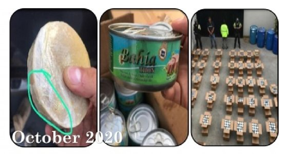 Seized drugs in tuna cans