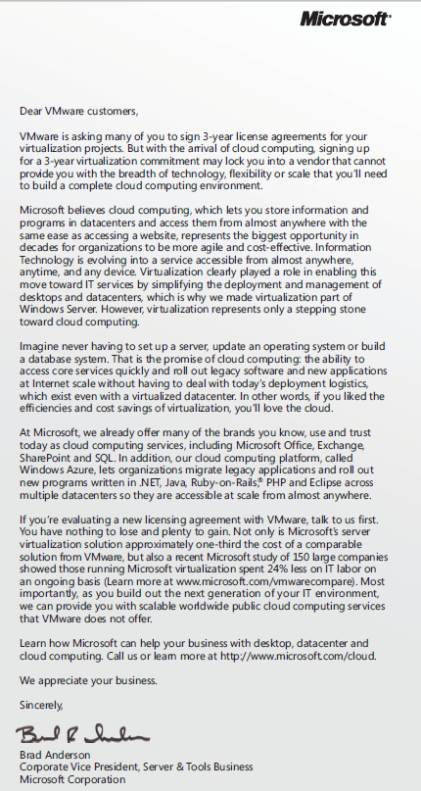 vmworld 2010 microsoft usa
