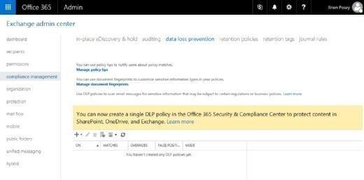 Office 365-DLP-Richtlinie