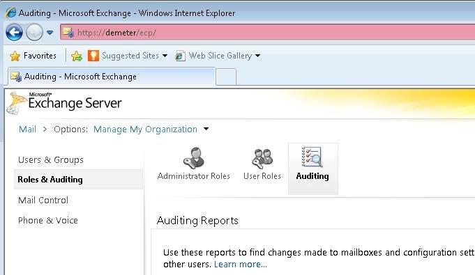 Verwenden Sie die Exchange-Systemsteuerung, um verschiedene Berichte auszuführen