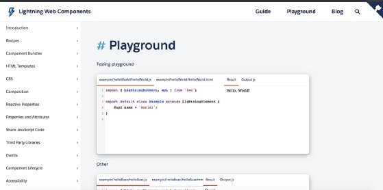 The Salesforce Lightning Web Components Playground