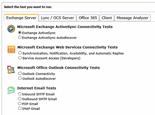 Microsoft Remote Connectivity Analyzer