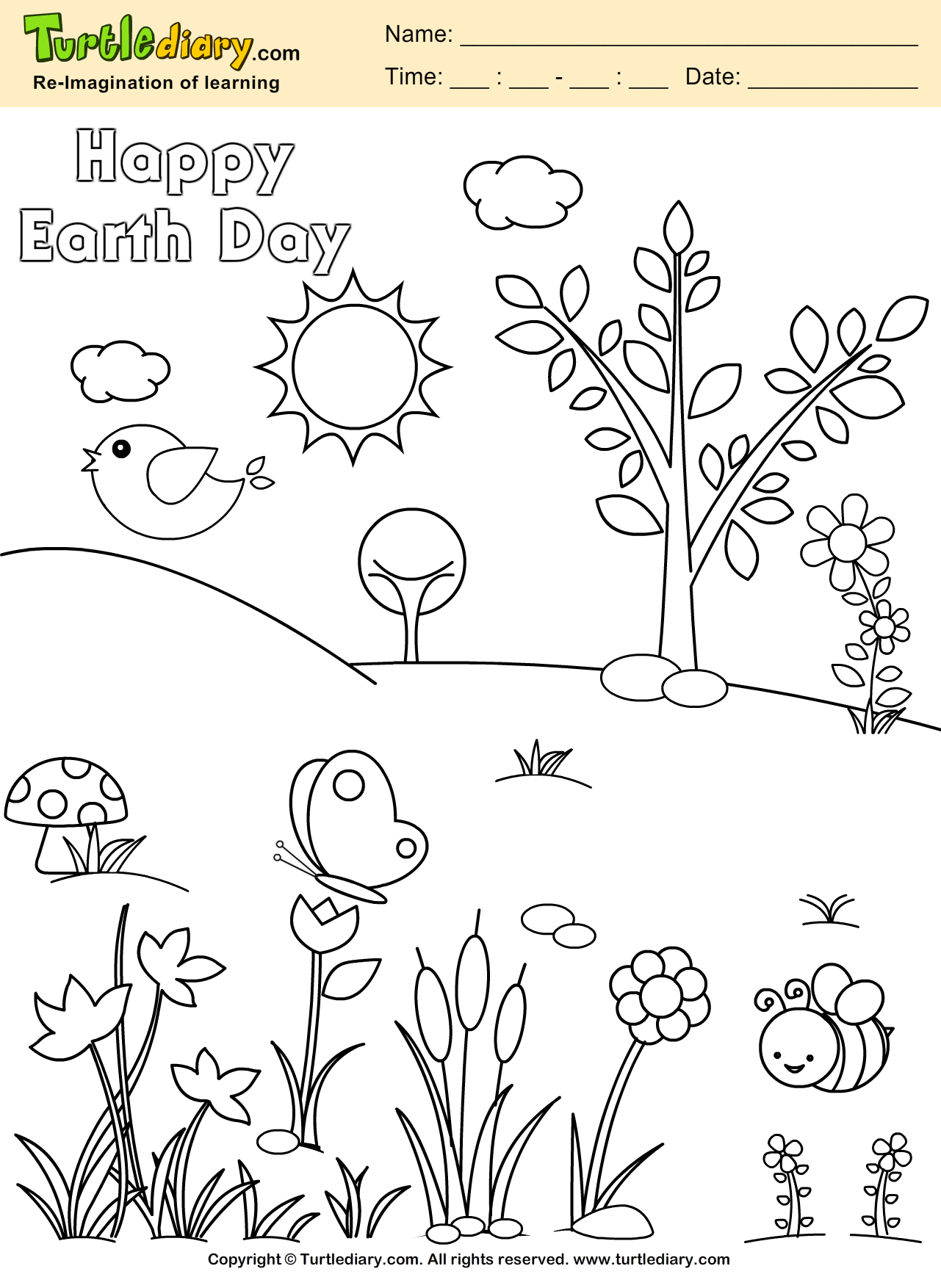 Planet Earth Coloring Sheet
