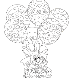 Easter Bunny Coloring Page   Turtle Diary [ 1754 x 1281 Pixel ]