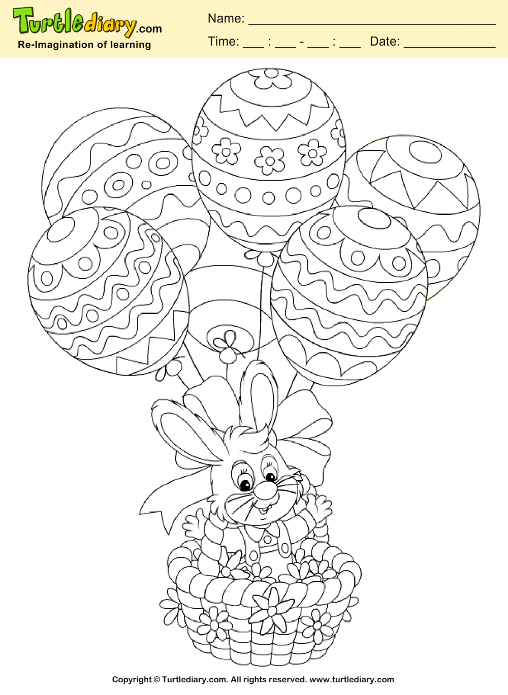medium resolution of Easter Bunny Coloring Page   Turtle Diary