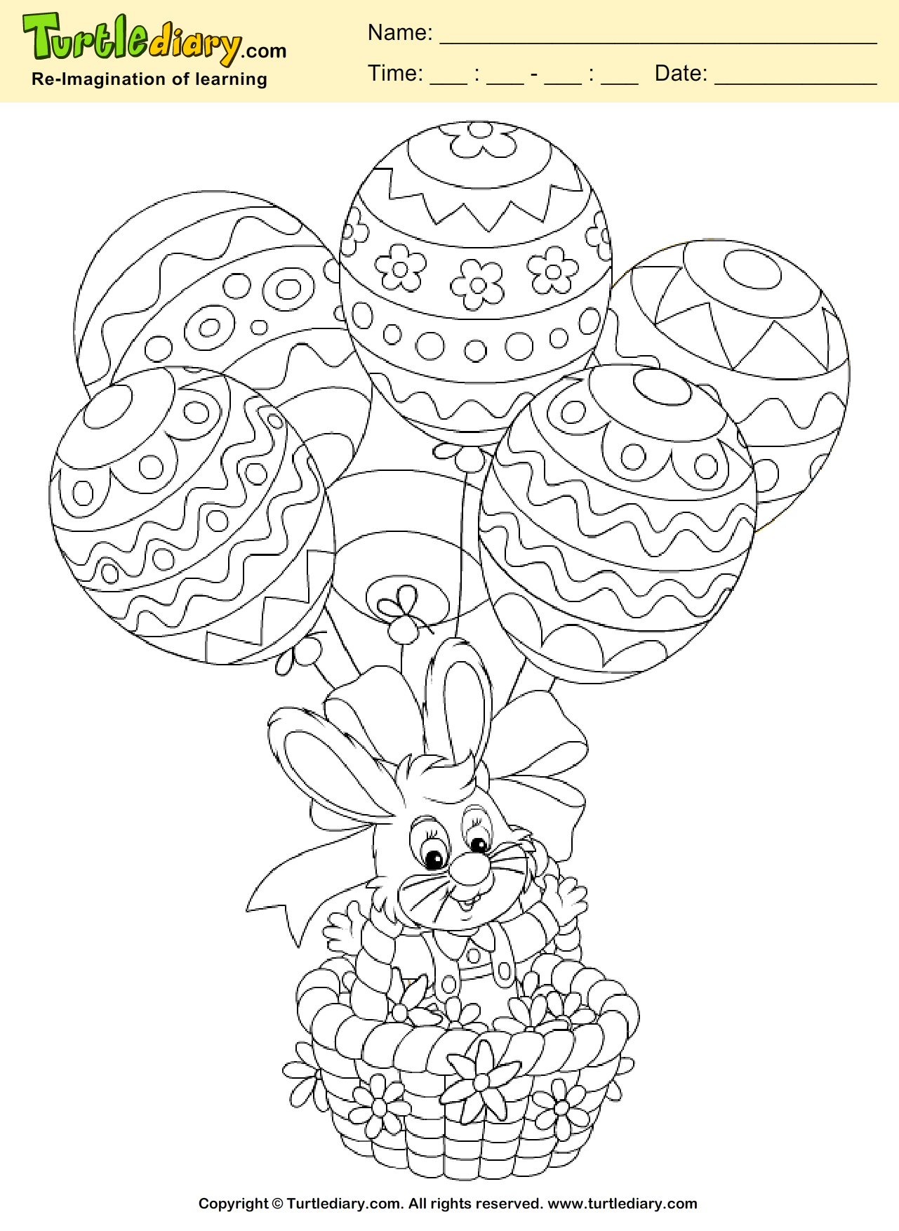 hight resolution of Easter Bunny Coloring Page   Turtle Diary