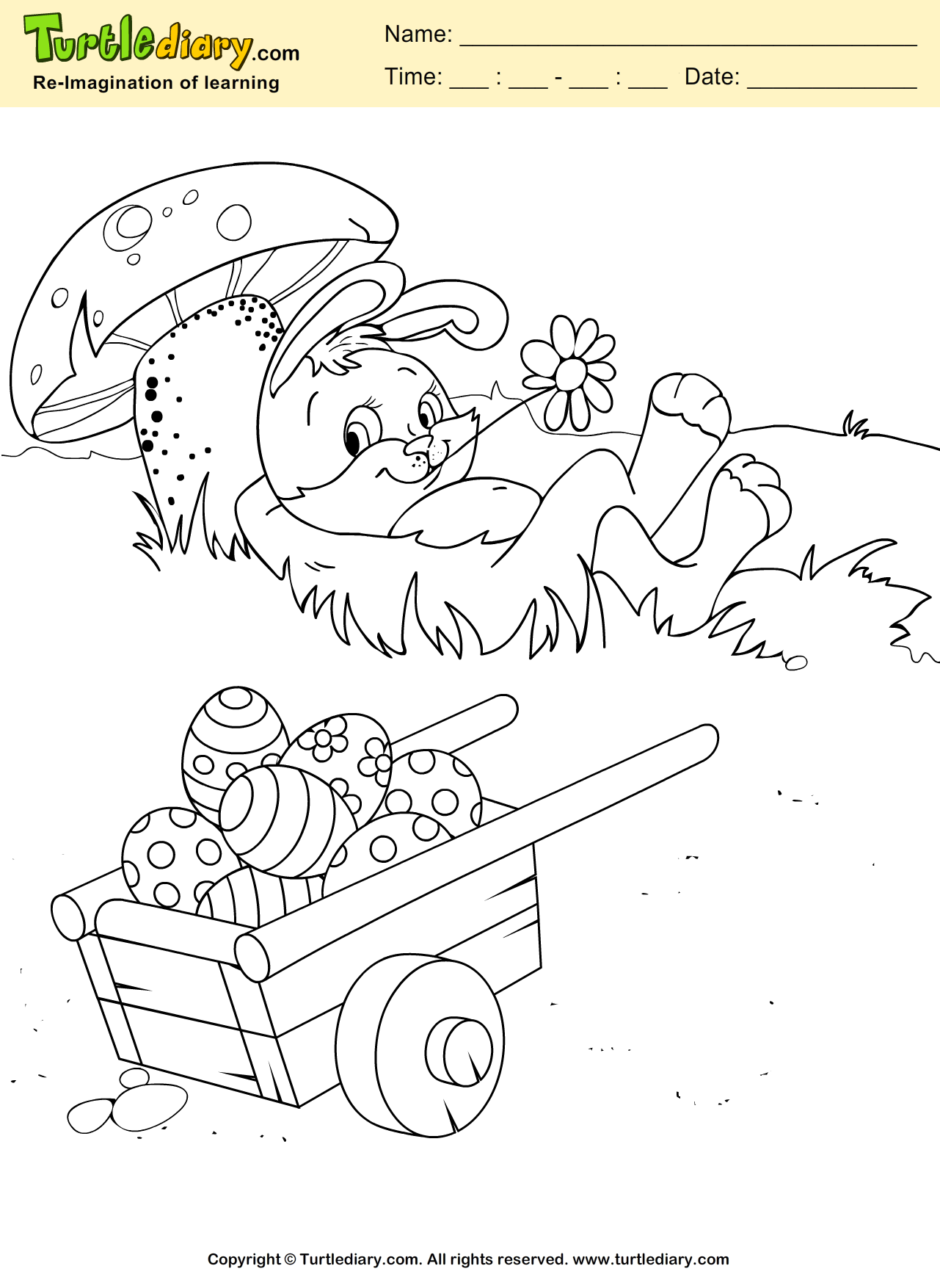 Easter Rabbit Coloring Sheet