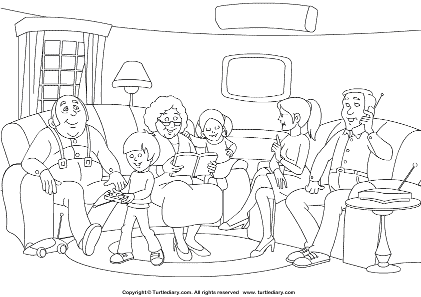 NEW 882 FAMILY COLORING WORKSHEETS FOR KINDERGARTEN