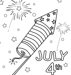 4th of july fireworks coloring page [ 2563 x 3508 Pixel ]