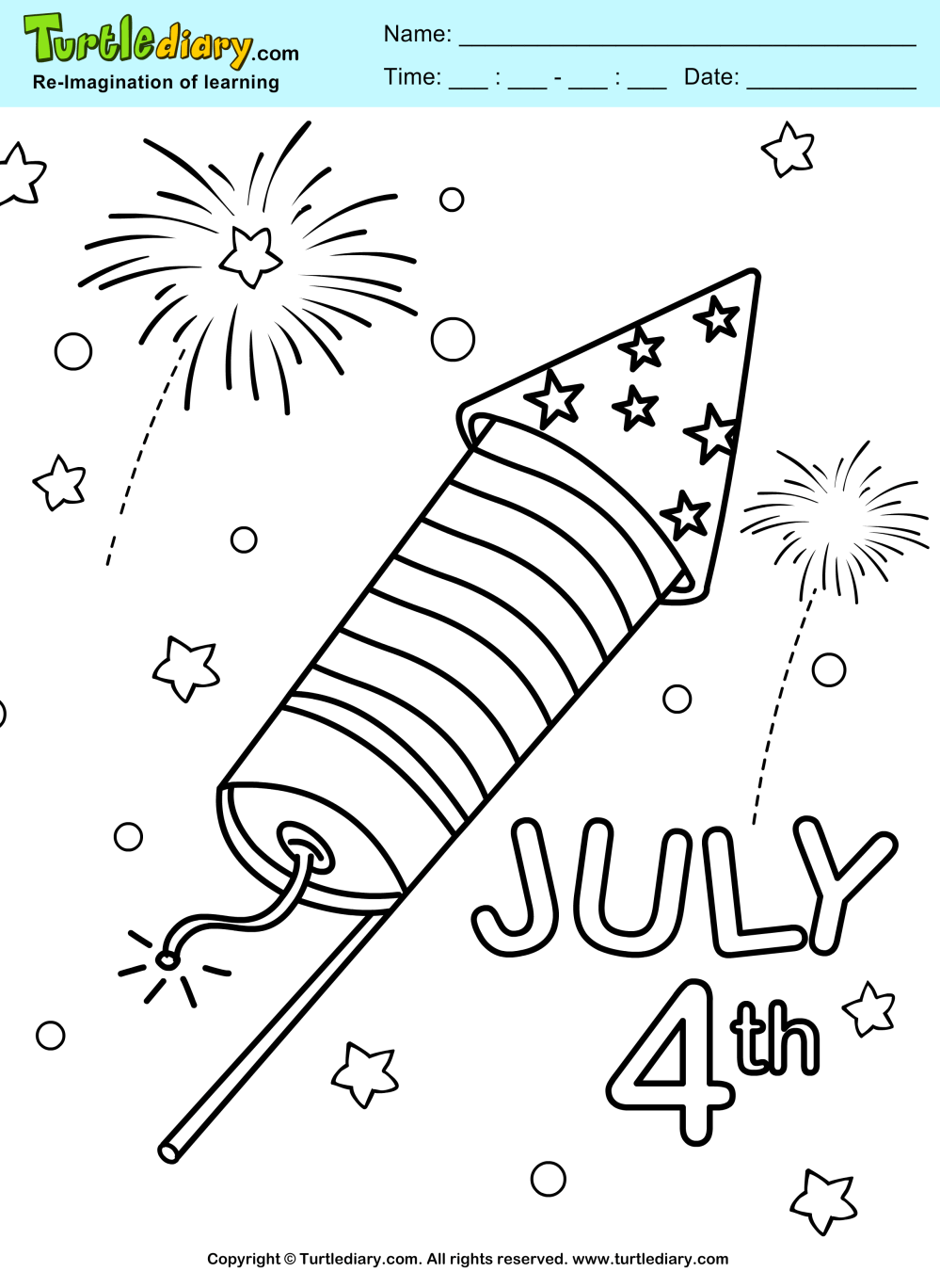 medium resolution of 4th of july fireworks coloring page