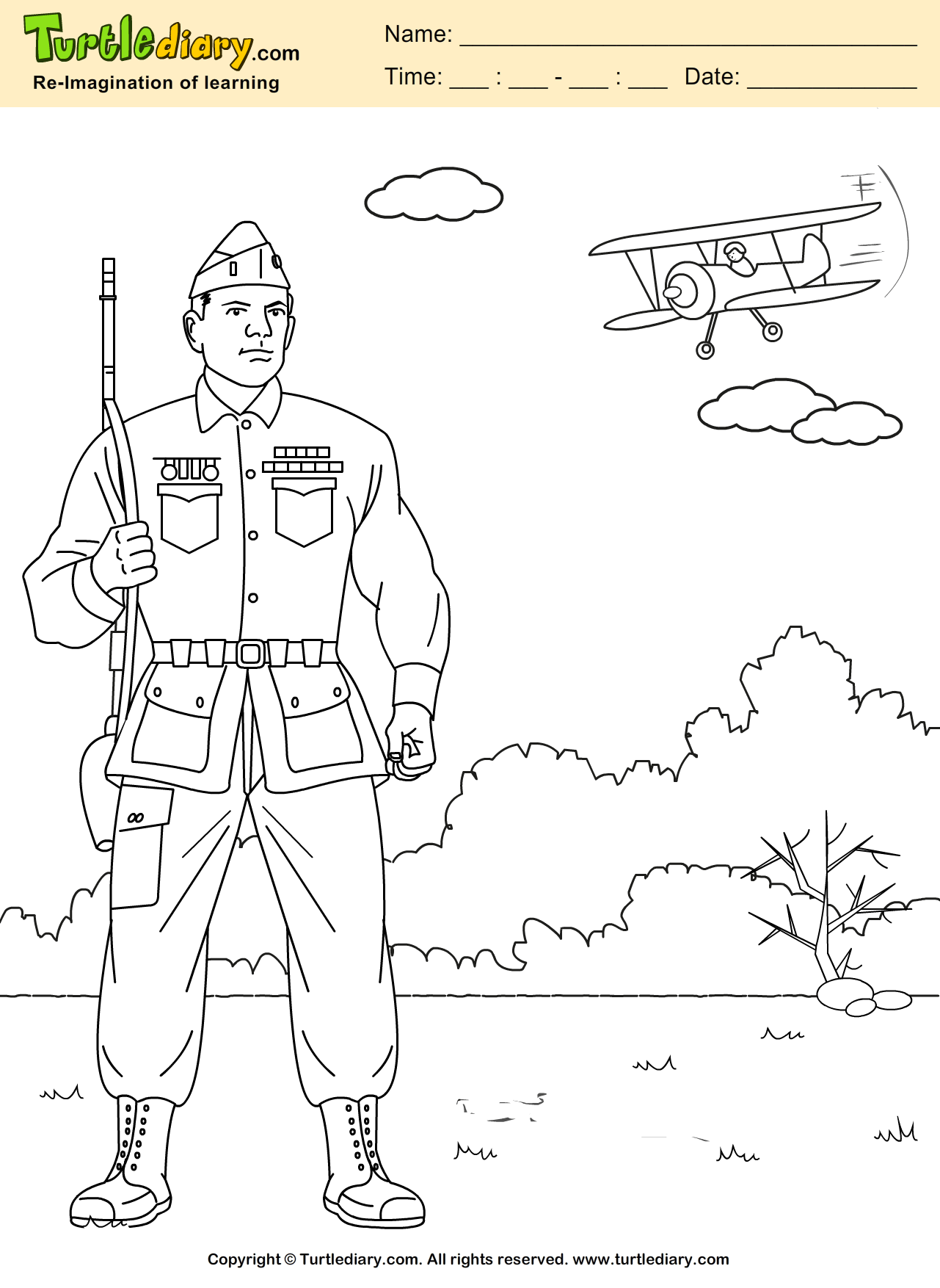 Veteran Coloring Sheet