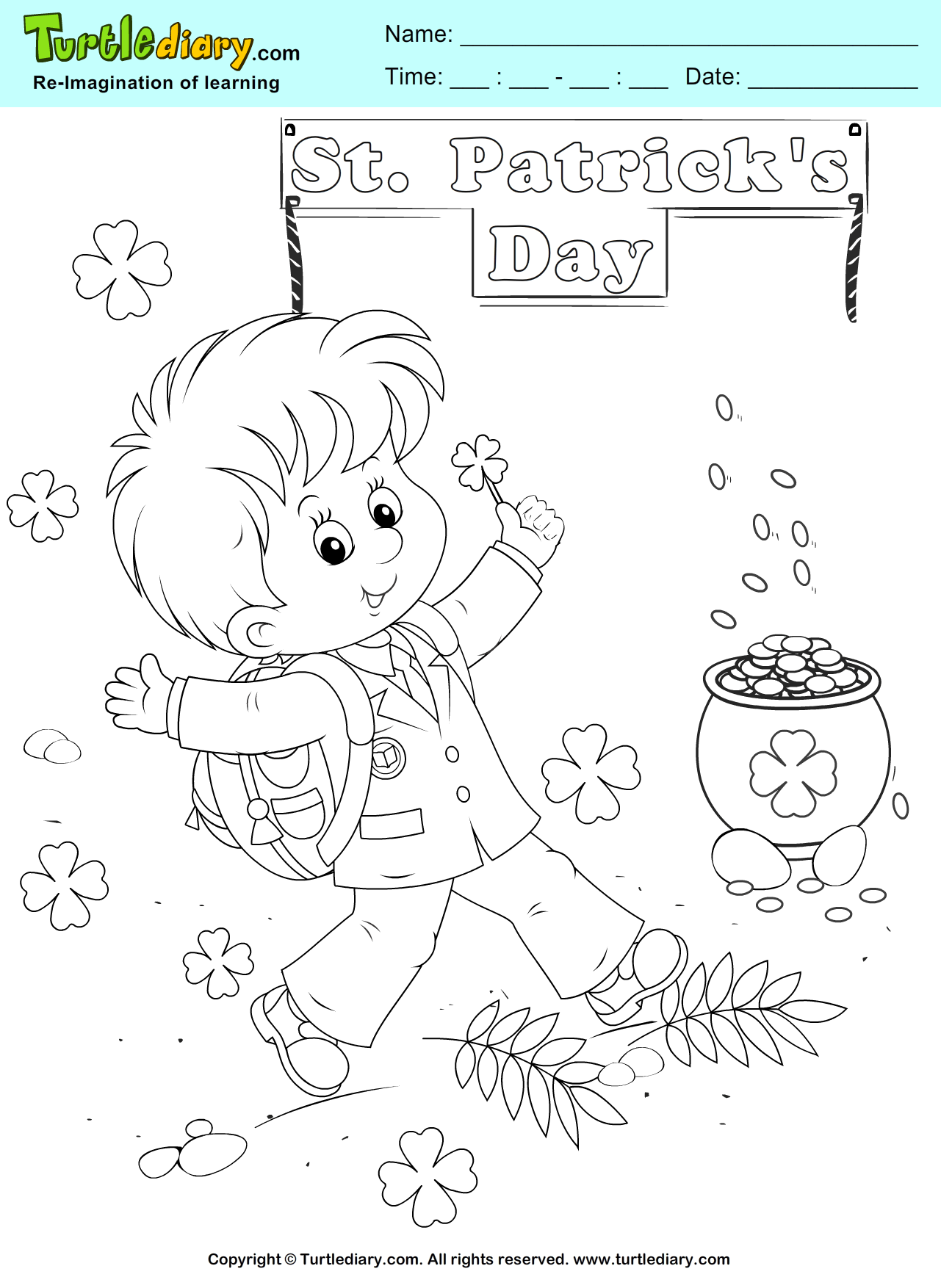 Gold Coloring Sheet