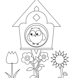 Bird House Coloring Sheet   Turtle Diary [ 1754 x 1281 Pixel ]
