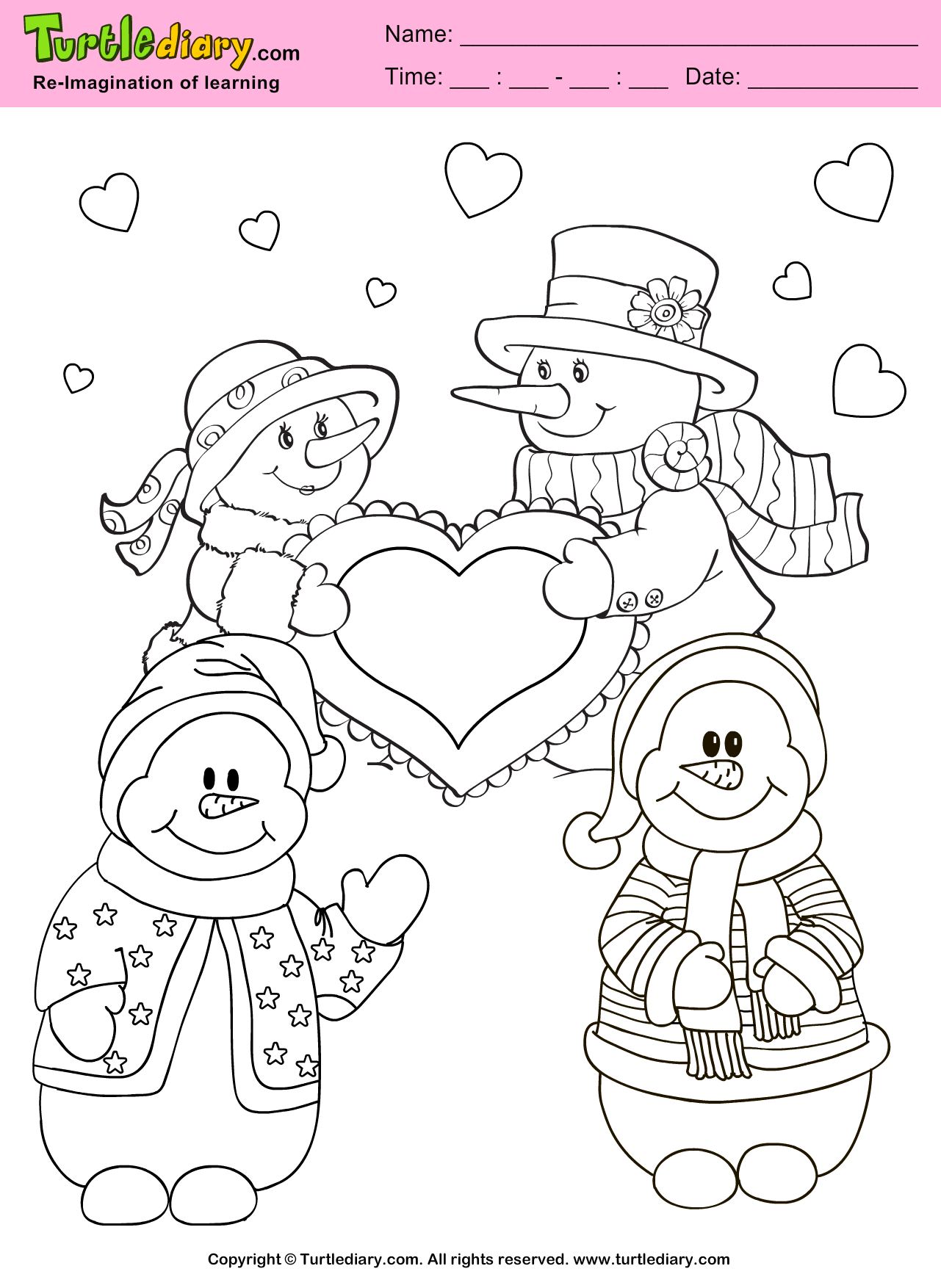Valentine Count How Many Coloring Pages