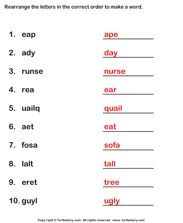 unscramble  dfinition  What is