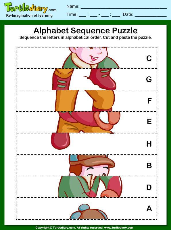 Alphabet Sequencing Worksheet