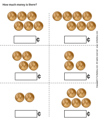 Counting Pennies Worksheet - Turtle Diary