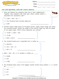 All Worksheets  Expanded Form With Decimals Worksheets ...