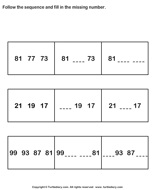 Follow Sequence And Fill Missing Numbers Up To Hundred