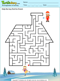 House Maze Worksheet