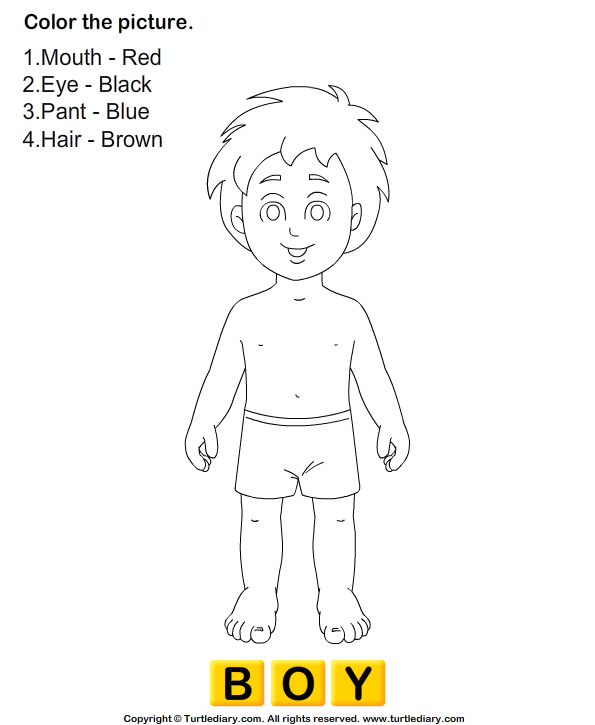 Human Body Coloring Pages for Kids Preschool and