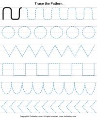 Pattern Tracing Worksheet - Turtle Diary