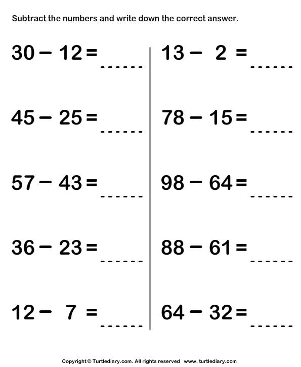 Image Result For Math Worksheet Two Digit Addition