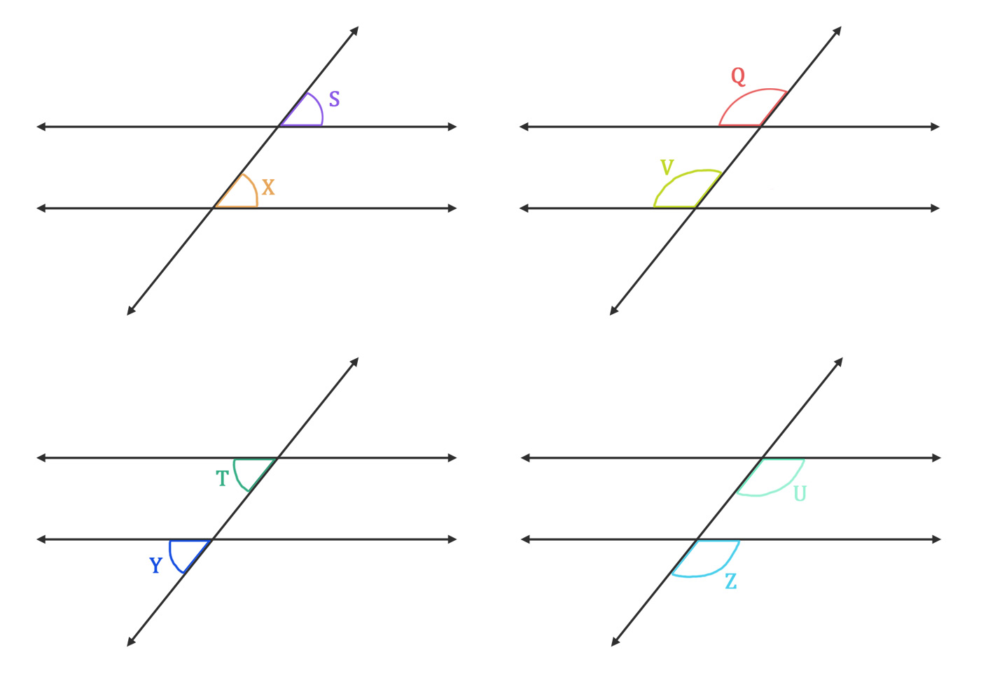 Transversal Lines Angles Amp Definition Video Amp Examples