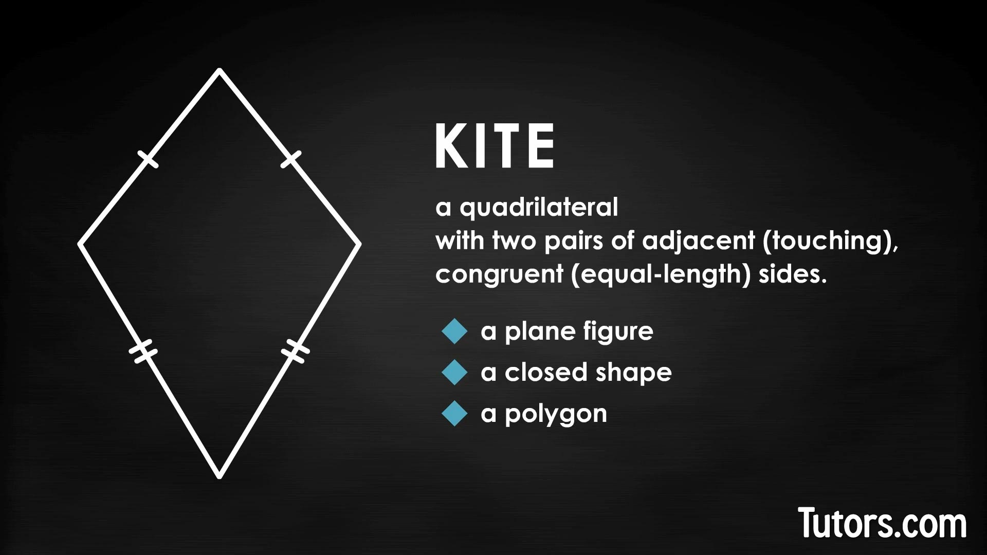 Kites In Geometry Definition Properties Amp Video