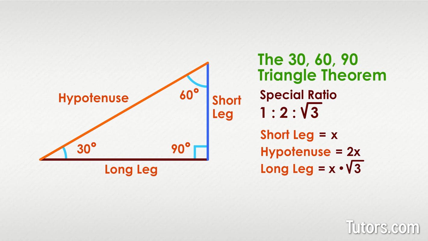 30 60 90 Triangle Theorem Ratio Formula Video