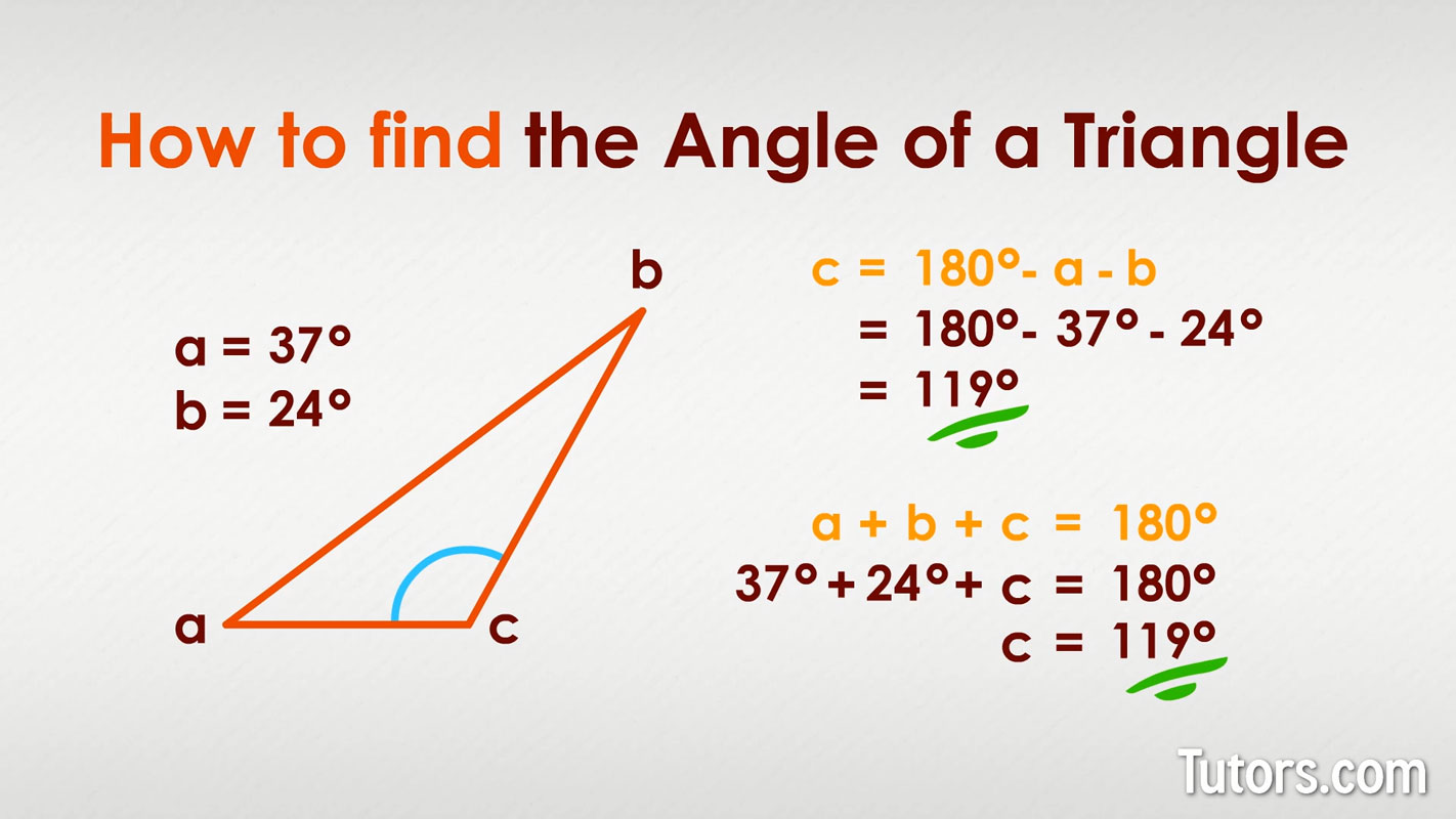 How To Find The Missing Angle Of A Triangle Video Amp Examples