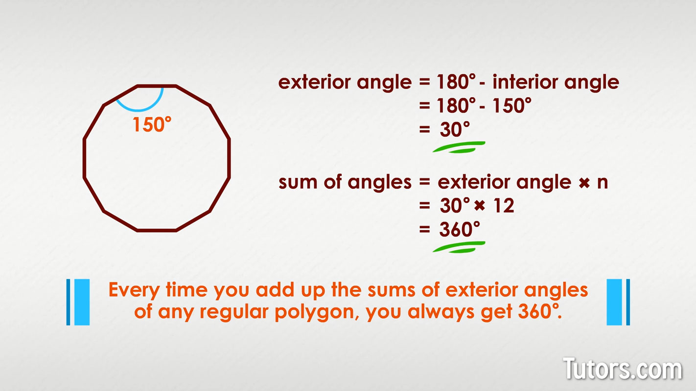 Interior Interior And Exterior Angles Of Polygons Answer Key