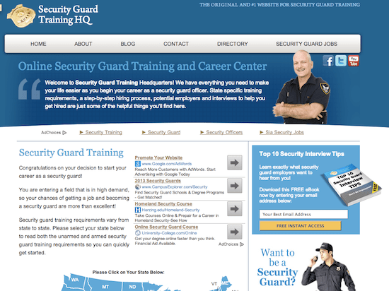 Online Security Guard Course