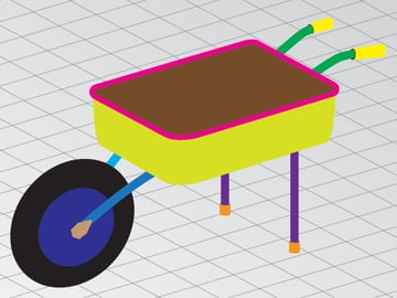 picture How To Draw A Simple Wheelbarrow draw a wheelbarrow in perspective