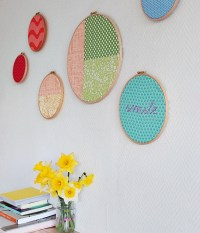 Create a Gorgeous Display of Rainbow Hoop Wall Art