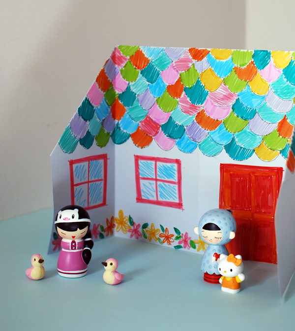 Superb House Craft Ideas For Kids Part - 3: Make An Adorable Origami Doll House