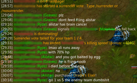 Trash Talking in Lol