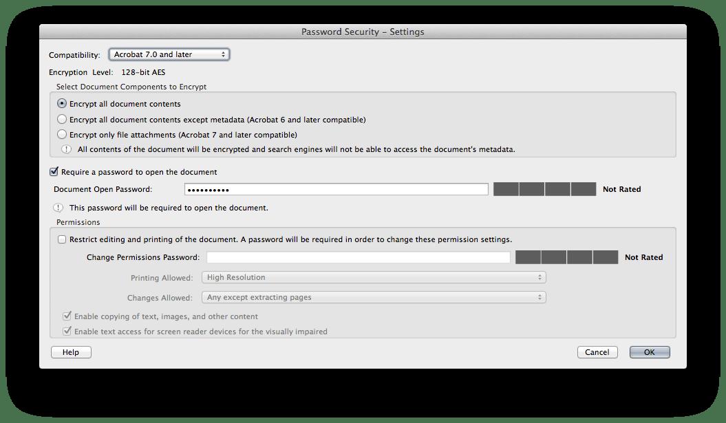 Adobe Acrobat dispose de nombreux paramètres de sécurité, vous pouvez même signer vos documents avec des signatures numériques pour une protection supplémentaire.