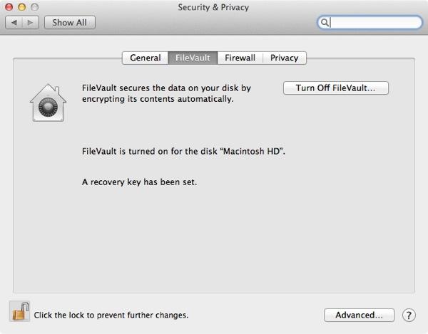 Vous pouvez désactiver FileVault 2 à tout moment