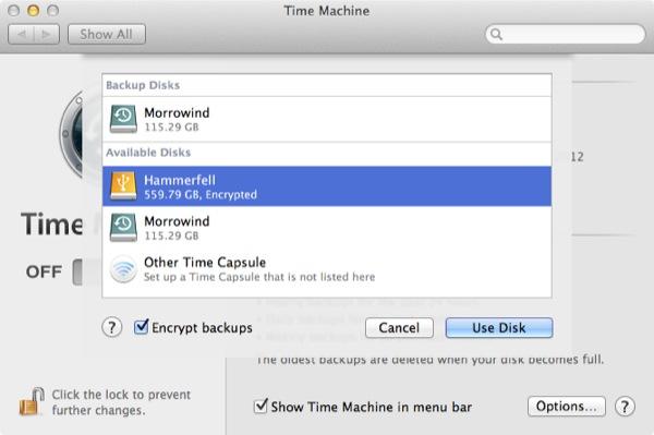 Time Machine vous permet de crypter n'importe quel lecteur externe pour une utilisation Time Machine, en vous assurant que votre sauvegarde est aussi protégée que votre Mac