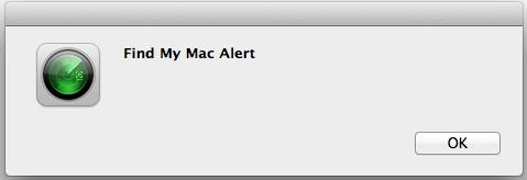 Votre Mac n'émet pas seulement un carillon, mais il affiche également une alerte.