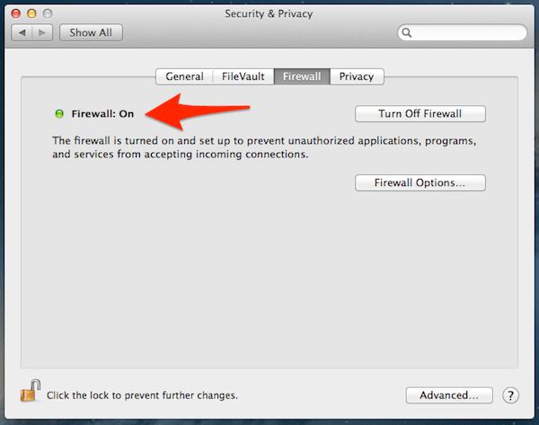 Le pare-feu intégré d'Apple est facile à activer et pourrait être utile.