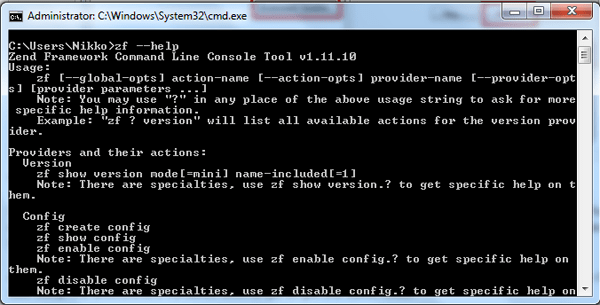 Testing the ZF CLI tool