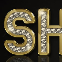 Create a Sparkling Diamond and Gold Text Effect Using ...