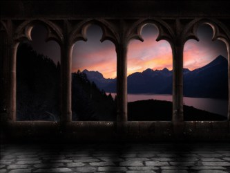 castle hallway photoshop step tutsplus psd effect below