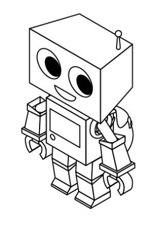 robot drawing simple cartoon using illustrator step ssr sprite adobe getdrawings