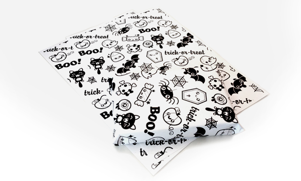 Create Kawaii Inspired Halloween Wrapping Paper in