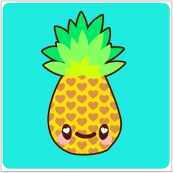 How to Draw a Simple Super Kawaii Pineapple in Adobe Illustrator