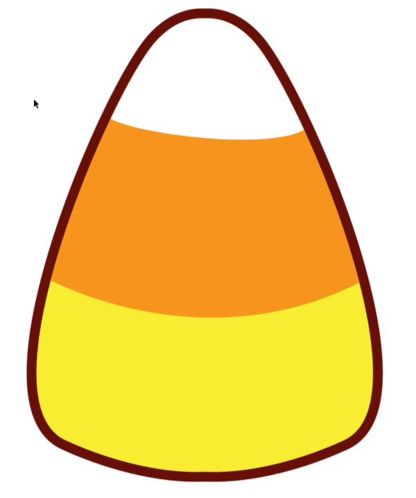 how to make a quick kawaii candy corn pattern for halloween