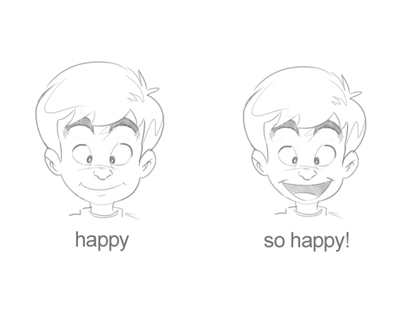 Cartoon Fundamentals: Create Emotions From Simple Changes